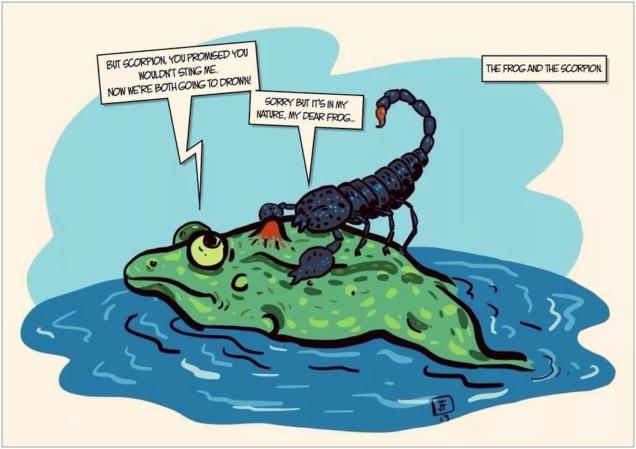 Притча про лягушку и скорпиона